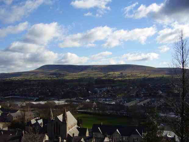 Pendle from Clitheroe